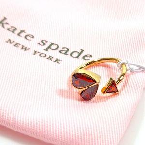 Kate Spade RUBY Ring Rock Solid Stone Heart Twist